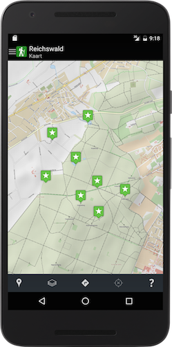 Reichswald app on Nexus
